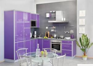 Кухня Альфа - цвет фиолетовый