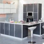 Кухня Альфа - цвет черно-белая роза