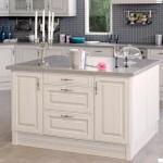 Кухня Винтаж остров - цвет портуна серебрённая
