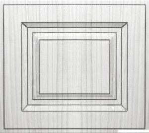 Винтаж фасад кухни Портуна серебрённая