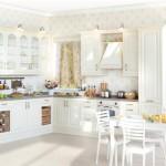 Кухня Винтаж - цвет ваниль коричневая
