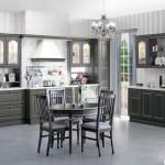 Кухня Винтаж - цвет графит серебрённый
