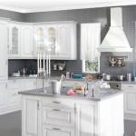Кухня Винтаж - цвет портуна серебрённая