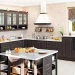 Кухня Винтаж - цвет шоколад золочёный