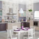 Кухня Натурель - цвет дуб светлый - дуб кофейный - рисунок Нова
