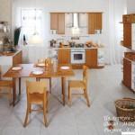 Кухня Натурель - цвет ольха - рисунок Классик