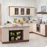Кухня Натурель - цвет орех дижон - береза светлая - рисунок Нова