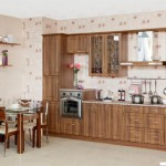 Кухня Натурель - цвет орех дижон - рисунок Престиж