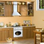 Кухня Натурель - цвет тик канада - рисунок Люкс