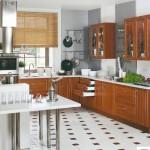 Кухня Натурель - цвет черешня - рисунок Люкс