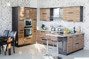 Кухня Олива - цвет дуб кофейный - олива