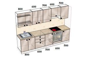 Типовой-проект-Кухня-прямая-3000