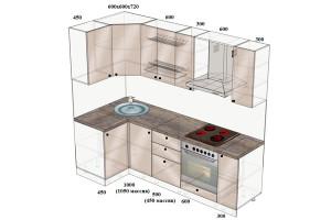 Типовой-проект-Кухня-угловая-1050х2400