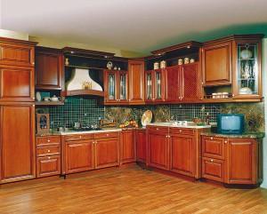 Кухня из массива акации Олимп