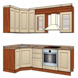 Типовой проект кухни из массива 2,4-1,2м
