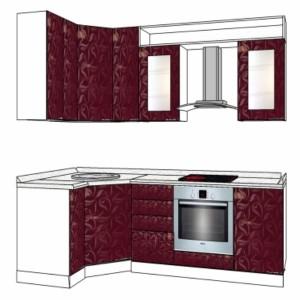 Типовой проект кухни с покрытием пластиком2,4-1,2м
