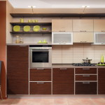 Кухня Техно пластик в алюминиевой рамке 1