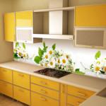 Кухня Техно пластик в алюминиевой рамке