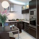 Кухня Техно пластик в алюминиевой рамке 2