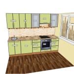 Кухня Техно плюс проект 2,7м 09.08.15