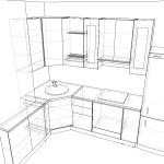 Проект Кухня Модерн чертеж 14.09.15