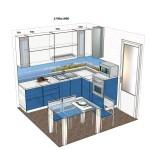 Кухня Техно 3D проект 29.12.15