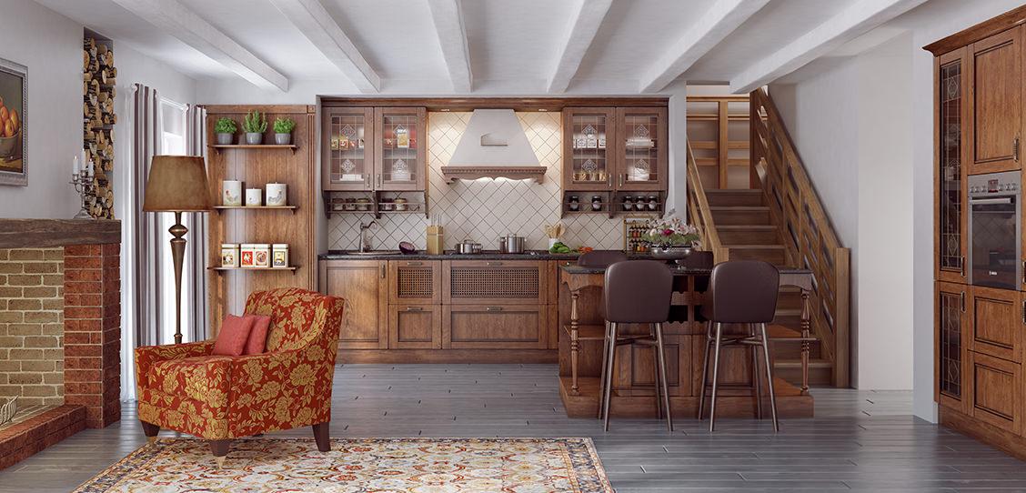 Кухня елизавета-глейз-орех